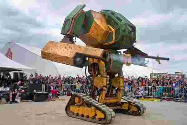 你童年梦想的机器人之战实际上正在发生